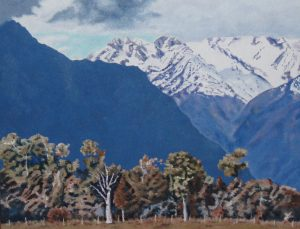 Dead tree - Mt Cook oil on canvas 750cm x 600cm