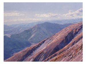 From Mt St Bathans oil on canvas 1.2m x 950cm